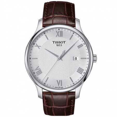 Tissot - Tradition men's watch silver roman numerals T0636101603800