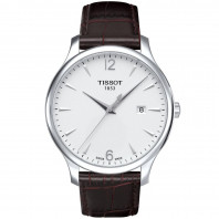 Tissot - Tradition men's watch silver & arabic numbers T0636101603700