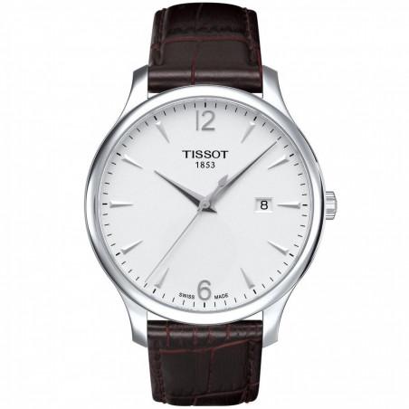 Tissot - Tradition herrklocka silver & arabiska siffror T0636101603700