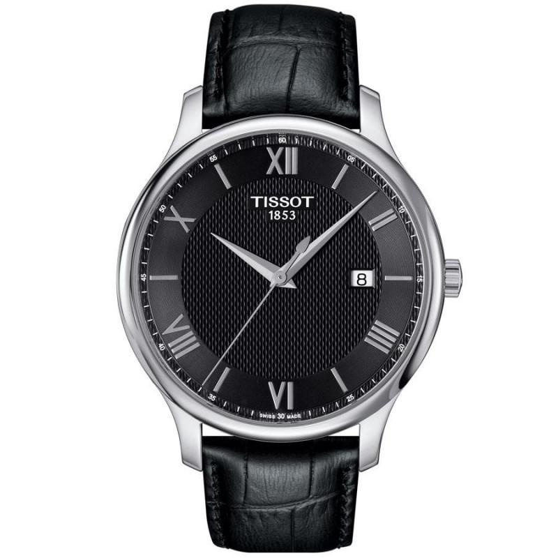 Tissot - Tradition herrklocka svart & romerska siffror T0636101605800