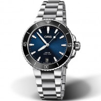 Oris Aquis Date Blue & Bracelet Women's watch