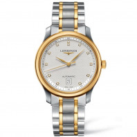 Longines Master Automatic - 38.5 mm diamonds index silver & yellow gold L26285777