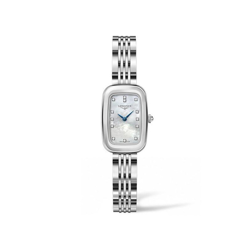 Longines - Equestrian lady 28 Quartz Mother-of-pearl and Diamonds L61404876