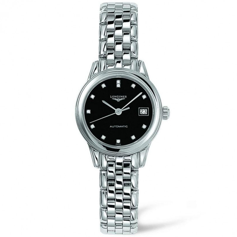 Longines Flagship Lady black dial and diamond L42744576