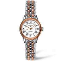 Longines Flagship 30mm stål & rose guld PVD L43743917