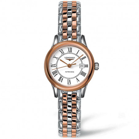 Longines Flagship 30mm bracelet with rose gold PVD