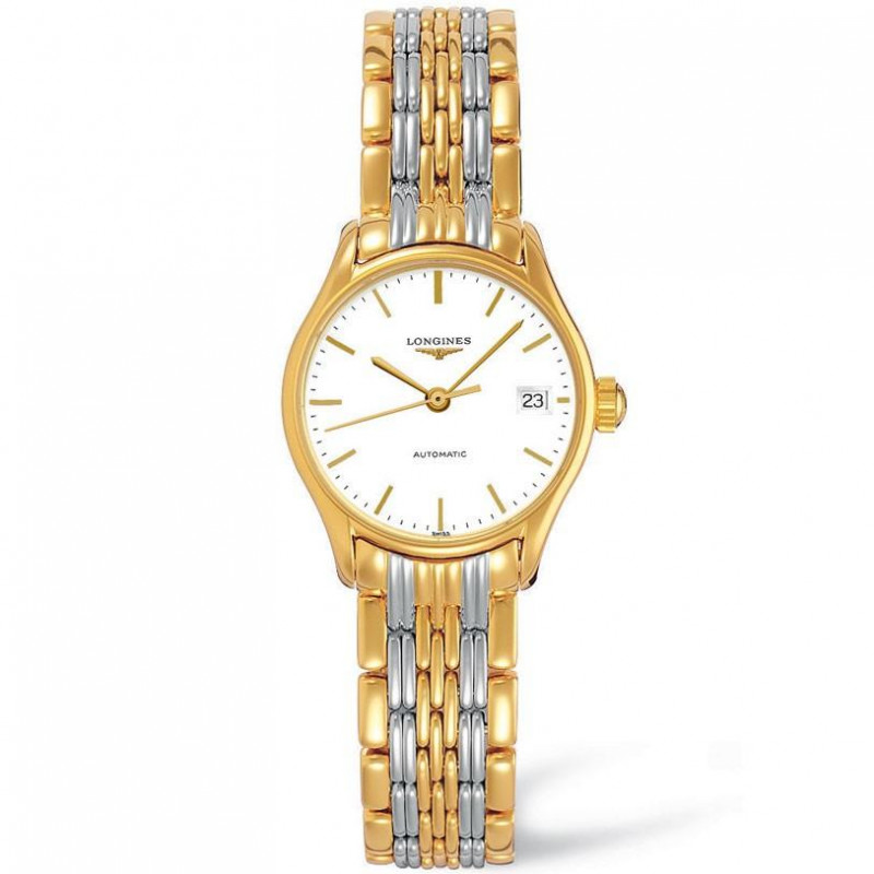 Longines Lyre 25mm bracelet with yellow gold PVD L43602127