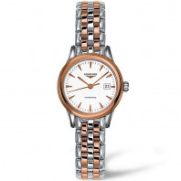 Longines Flagship 36mm bracelet with rose gold PVD L43743927