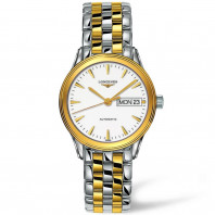 Longines Flagship white 35mm Steel & yellow gold PVD Gent¨s