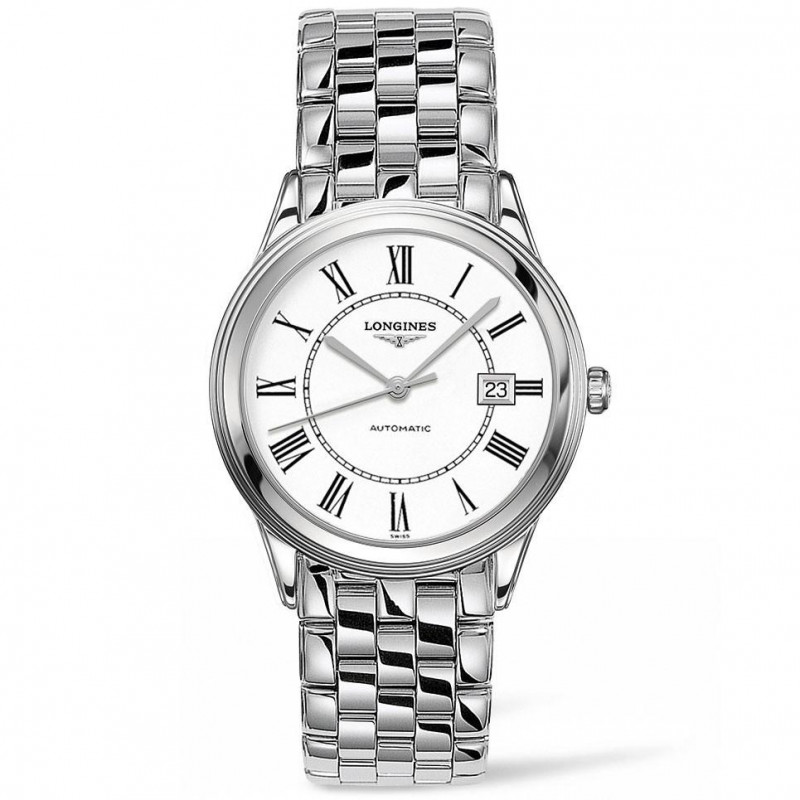 Longines Flagship 38.5mm white & bracelet L48744216