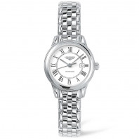 Longines Flagship Lady 30mm white & bracelet L43744216