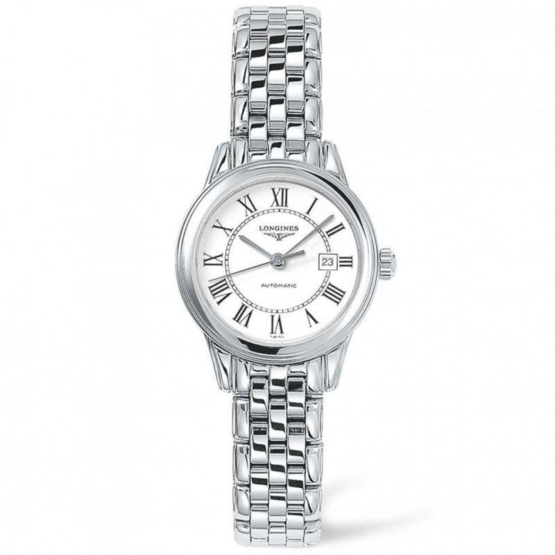 Longines Flagship Lady 30mm white & bracelet L43744216