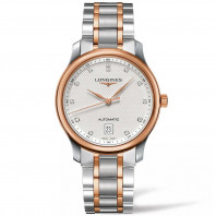 Longines Master Automatic 38.5 mm - stål & rose guld & diamanter L26285977