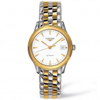 Longines - Flagship White Steel & Gold PVD Gent's Watch