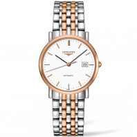 Longines Elegant White Steel & Rose Gold 34.5mm