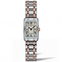 Longines - Dolce Vita Lady 17.4 x 27mm Steel and rose gold plated bracelet