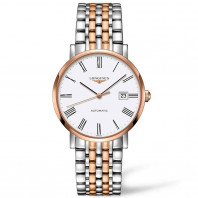 Longines Elegant White Steel & Rose Gold PVD 39mm Gents