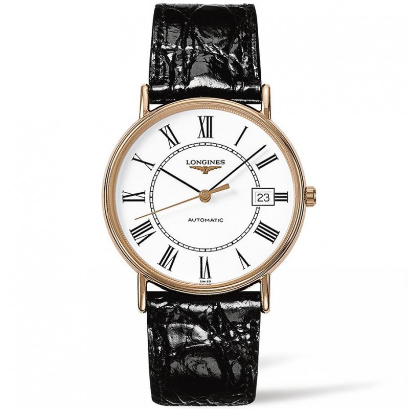 Longines - Presence rose gold PVD & roman numeral