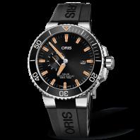 Oris Aquis Small Second & Date - gummiband