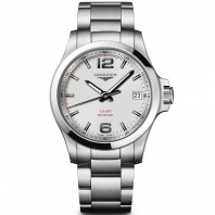 Longines - Conquest 41mm silver & bracelet