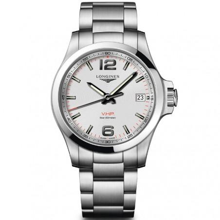 Longines - Conquest 41mm silver & bracelet