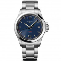Longines - Conquest 41mm blue & bracelet