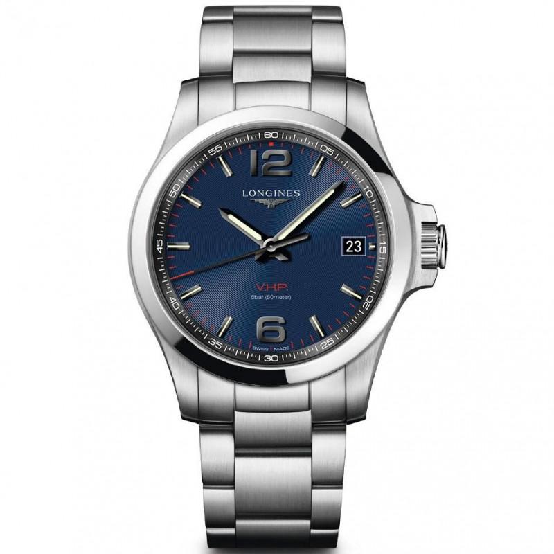 Longines - Conquest 41mm blue & bracelet L37164966