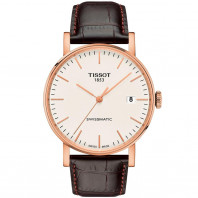Tissot - Everytime Swissmatic Gold & Leather strap T109.407.36.031.00