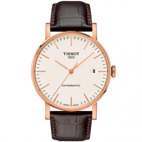 Tissot - Everytime Swissmatic Gold & Leather strap T109.407.36.031.00