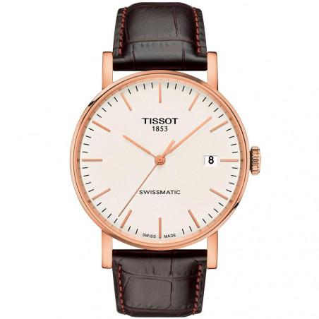 Tissot - Everytime Swissmatic Guld & Läderband T109.407.36.031.00