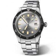 Oris Divers Sixty-Five silver & stållänk
