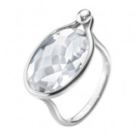 Georg Jensen Savannah ring - sterling silver with rock crystal
