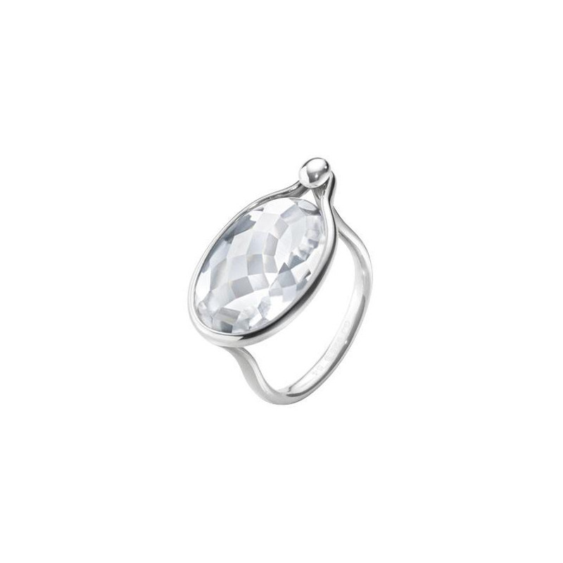 Georg Jensen Savannah ring - sterling silver with rock crystal