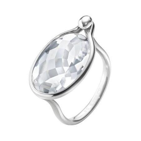 Georg Jensen Savannah ring - sterlingsilver med bergkristall
