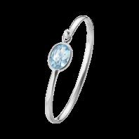 Georg Jensen Savannah armband– sterlingsilver med blå topas