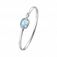 Georg Jensen Savannah bangle - sterling silver with blue topaz