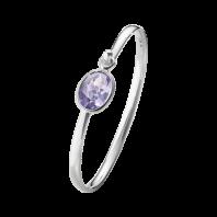 Georg Jensen Savannah armband– sterlingsilver med Ametist