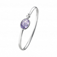 Georg Jensen Savannah bangle - sterling silver with amethyst