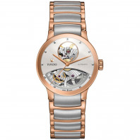 Rado Centrix women's watch open heart dial steel & rose gold R30248012