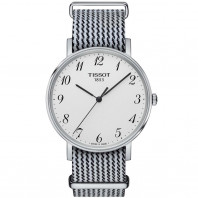 Tissot - Everytime Medium Nato silver, white & black nato strap