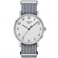 Tissot - Everytime Silver, Vit & Svart Natoband