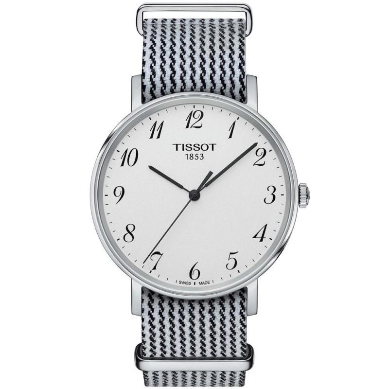 Tissot Everytime silver urtavla & natoband T1094101803200