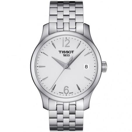 Tissot - Tradition damklocka,  silver & stållänk T0632101103700