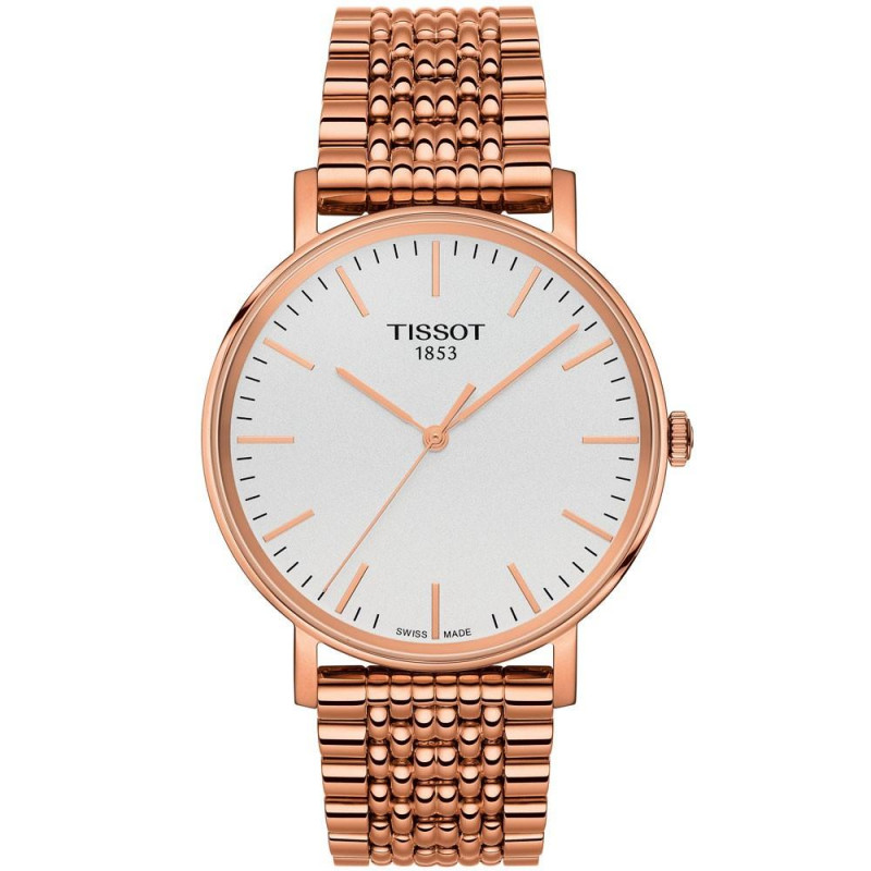 Tissot - Everytime Medium silver & rose gold