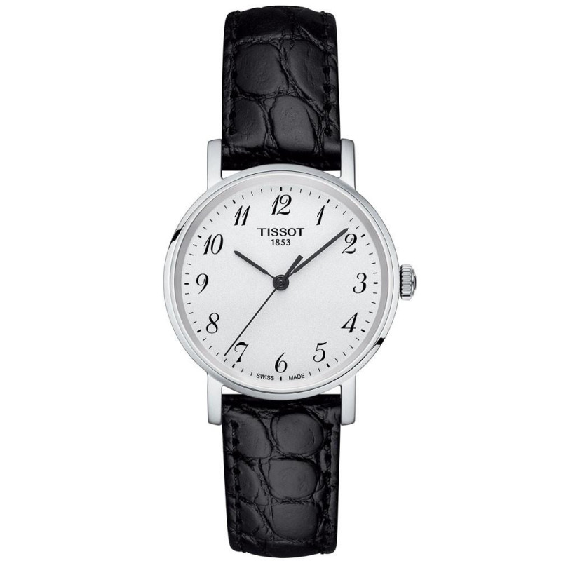 Tissot - Everytime quartz lady silver & leather strap T1092101603200