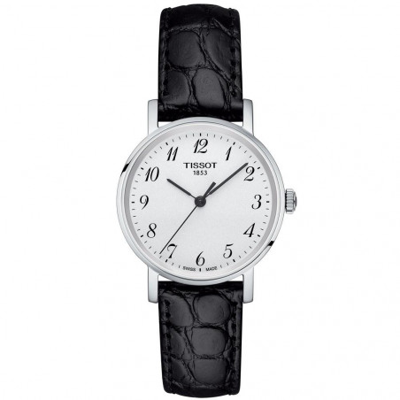 Tissot - Everytime quartz lady silver & leather strap T1092101603200