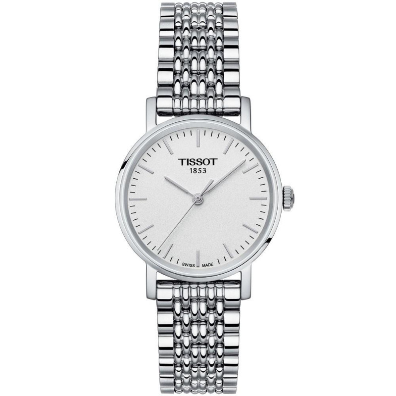 Tissot - Everytime quartz lady silver dial and bracelet T1092101103100