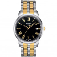 Tissot Classic Dream quartz men's watch, black & gold T0334102205301