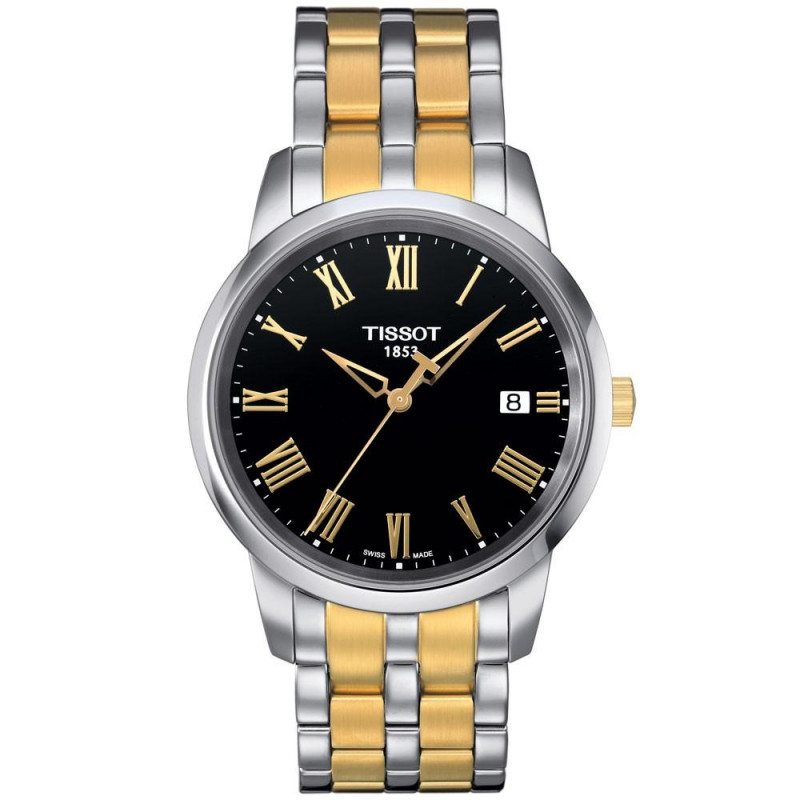 Tissot Classic Dream quartz men's watch, black & gold T0334102205301
