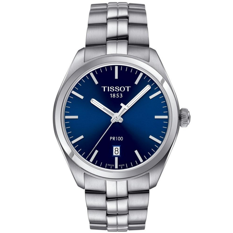 Tissot - PR 100 Quartz Men's watch Blue dial & Bracelet T1014101104100